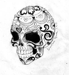 sugar skull tattoo | Tumblr I really really like this love love love