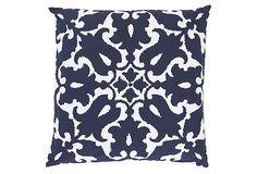 Sindoor 20x20 Pillow, Navy on OneKingsLane.com