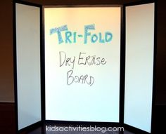 Tri-fold white board!!! I would have never though of this!
