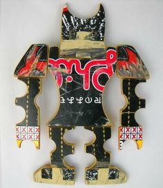 Recycled Skateboard Art by skatebird on Etsy