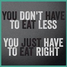 What I always say. Load up on your HEALTHY carbs and calories.