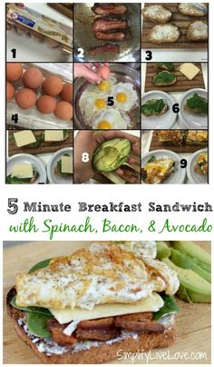 5 Minute Breakfast Sandwich. An quick and easy way to make a filling breakfast…
