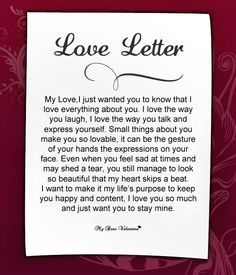 Love Letter For Her #48 | Love Letters for Her | Pinterest | More ...