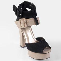 Journee Collection Bulb Peep-Toe Platform High Heels