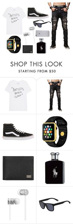 """""""Boyfriend #1"""" by haleypapa on Polyvore featuring Vans, Dolce&Gabbana, Ralph Lauren, Beats by Dr. Dre, Lacoste, Native Union, men's fashion and menswear"""