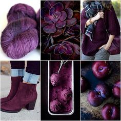 Mood Board Monday :: Plum Plum seems to magically look good with everything. It's like the best neutral purple - that's a thing right? Color Borgoña, Plum Color, Colour Board, Colour Schemes, Color Trends, Color Combinations, Color Palettes, Purple Rain, Deep Purple