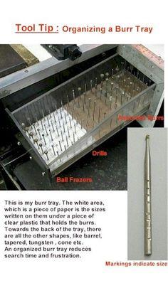 Jewelry Tool Tips - Organize Burr Tray