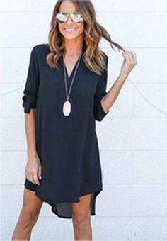 Cheap dress ornament, Buy Quality dress high directly from China dress barn plus size dresses Suppliers: 2018 Newest Women Long Sleeve Spring Summer Dress Loose Waist Solid Shirt Dress Ladies Woman Casual Mini Women Dress Vestidos Casual Dresses, Short Dresses, Summer Dresses, Floral Dresses, Autumn Dresses, Tunic Dresses, Chiffon Dresses, Sleeve Dresses, Casual Dress For Fall