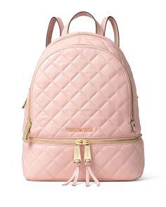 V2YMX MICHAEL Michael Kors Rhea Medium Quilted Backpack, Blossom