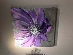 Floral Painting                 $225 Purple floral oil painting