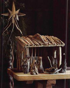 Roost Driftwood Nativity Set