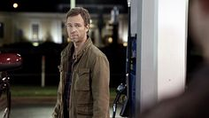 Mr. Argent and the other werewolf hunters confront Derek at a gas station.