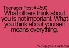 What you think about yourself