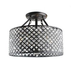 @Overstock - This uniquely designed chandelier features an iron base with antique bronze-finished fixtures, clear crystal and a chrome shade. The four-light indoor chandelier features four rods for ceiling suspension.http://www.overstock.com/Home-Garden/Antique-Bronze-4-light-Round-Crystal-Ceiling-Chandelier/6805913/product.html?CID=214117 $169.99