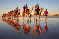 Broome #Australia, the beautiful curved #sands of Cable #Beach