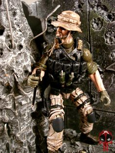 "Custom made GI Joe ""Ghost Shark"" US Navy Seal modern military action figure OOAK"