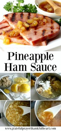 The perfect sauce to compliment baked ham is pineapple ham glaze. An easy recipe that takes just a few minutes and a few ingredients to make but adds so much flavor. Serve it on the side with your Easter or Christmas baked ham or with a grilled ham slice. Baked Ham With Pineapple, Pineapple Recipes, Pineapple Ham Glaze, Pineapple Chutney For Ham Recipe, Pineapple Sauce, Side Dishes For Ham, Dinner Side Dishes, Main Dishes, Sauce Recipes