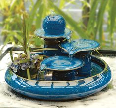 ceramic fountain Ceramic Fountain with colorful for decorative indoor and outdoor ...