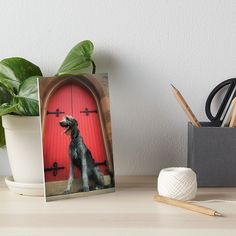 Holy Wolfhound art board print.  Available in a variety of displayable styles.