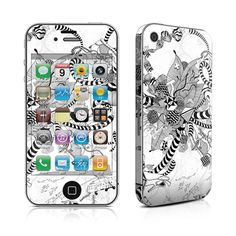 iPhone 4 Skin - Black And White Play by Iveta Abolina