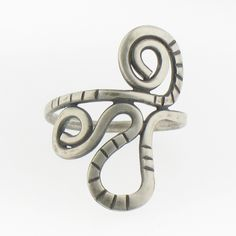 Handmade Sterling Silver Twisted Ring. $45.00, via Etsy.