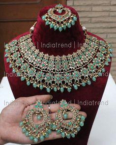 Indian Bridal Jewelry Sets, Indian Jewelry Earrings, Jewelry Design Earrings, Royal Jewelry, Necklace Designs, Bohemian Jewelry, Punk Jewelry, Fashion Jewelry, Wedding Jewellery Designs