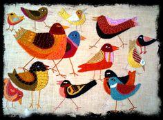 Needlework Birds by TILT, via Flickr