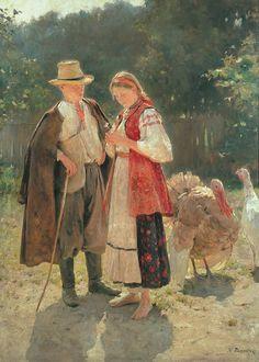 History Ukraine on Russian Culture, Russian Art, Composition Painting, Russian Painting, Ukrainian Art, Classic Paintings, Art Database, True Art, Couple Art