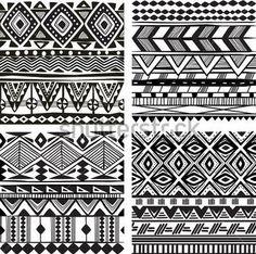 Бесшовные текстуры племенных