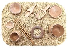 SimplytoPlay Sensory Bin Tools, Montessori Toys for Toddlers, Waldorf Toys, Wooden Scoops and Tongs for Transfer Work and Fine Motor Learning Montessori Toddler, Montessori Toys, Toddler Toys, Baby Toys, Sensory Tools, Sensory Bins, Sensory Play, Sensory Therapy, Baby Sensory