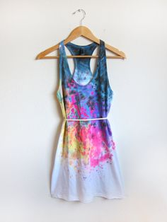 pretty paint splashed dress