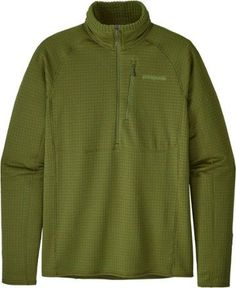 d6316d34 Patagonia Men's R1 Pullover Sprouted Green L Running Jacket, Patagonia, ...