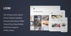 Download and review of Loom - Multipurpose Responsive WordPress Theme, one of the best Themeforest Creatives themes