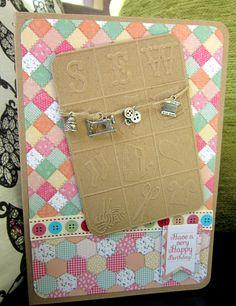 Bespoke card - sewing theme:)xM