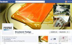 facebook Druckerei Festge Oelde fanpage, concept, design, editing