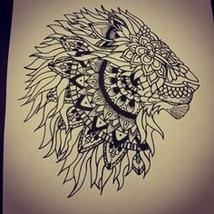 lion mandala tattoo - Google Search