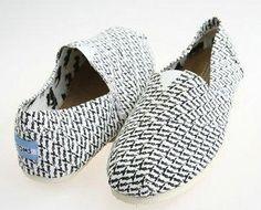 TOMS Canvas Shoes Fashion white Letter Men