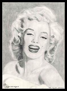 First pinned to Marilyn Monroe Art board, here: http://pinterest.com/fairbanksgrafix/marilyn-monroe-art/ || Marilyn Monroe by ~themisskitty on deviantART