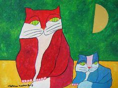 Gato com Filhote - Cat and kitten | Aldemir Martins