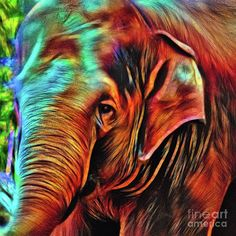 Elephant Abstract Psychedelic By Kaye Menner Art Print by Kaye Menner.  All prints are professionally printed, packaged, and shipped within 3 - 4 business days. Choose from multiple sizes and hundreds of frame and mat options.