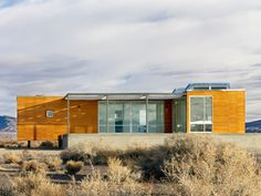 The high desert of Nevada, just east of Death Valley, is a pretty barren and inhospitable place. But for the owners of this small vacation house, there is beauty in the parched landscape and peacef...