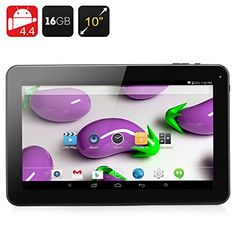 10.1 Inch Quad Core Tablet - A33 CPU, 1GB RAM, 16GB Memory, Android 4.4, Micro SD Slot, 5000mAh Bat VC http://www.amazon.co.uk/dp/B00TO28UQG/ref=cm_sw_r_pi_dp_1Uqrwb0EC6APZ