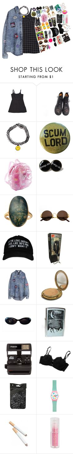 """Real 90s"" by tiffanyelinor ❤ liked on Polyvore featuring Cartier, Coty, Vintage Collection, Gucci, Market, Polaroid, Topshop, American Apparel, Candie's and vintage"