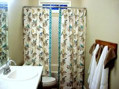 Split/Panel Shower Curtain /Extra Long Or Reg. Length Custom Double Panel/