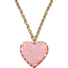 Betsey Johnson Lucite Heart Necklace 2 ($55) ❤ liked on Polyvore
