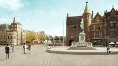 Een impressie van het nieuwe plein   Beeld: Omroep West