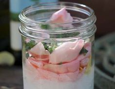 rose petal and coconut oil body scrub