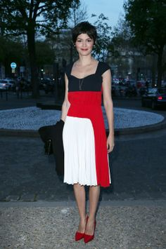 Audrey Tautou Is Patriotic in Prada