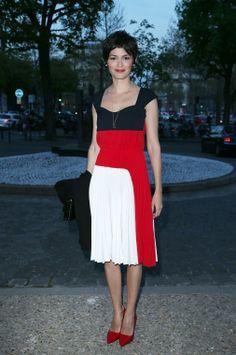 Audrey Tautou Is Patriotic in Prada
