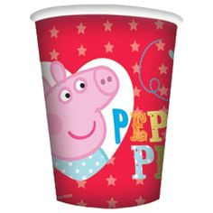 8 Peppa Pig Red Birthday Party 9oz Disposable Paper Cups #Party